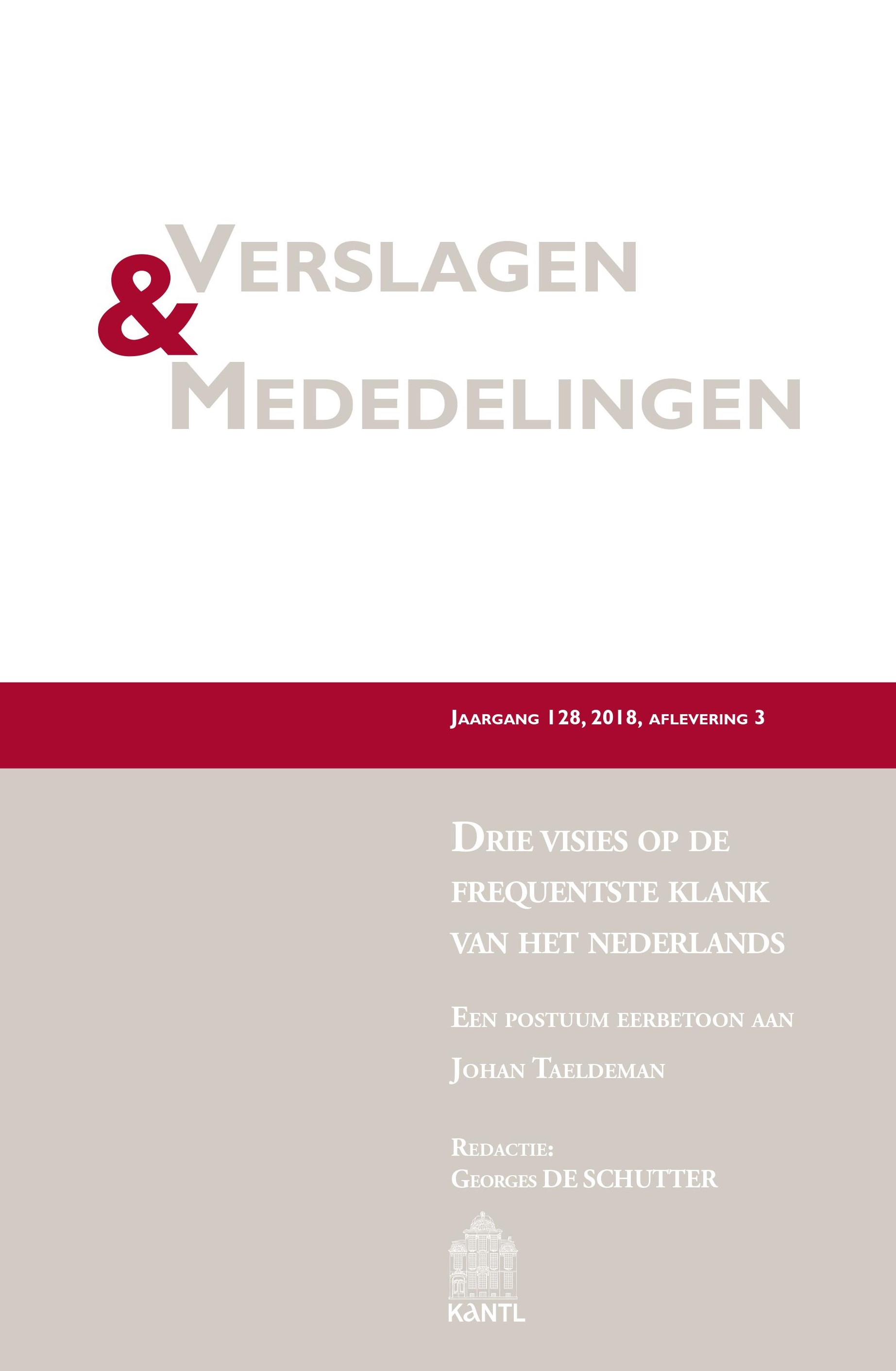 Frontcover V&M 2018-3